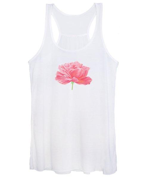 Pink Rose Women's Tank Top