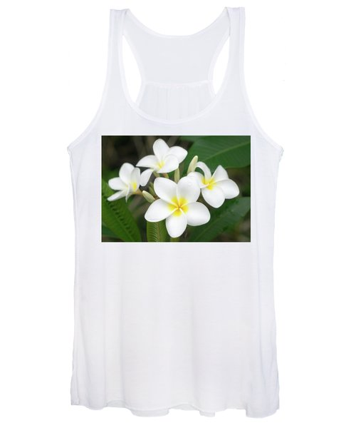 Pleasing Plumeria Women's Tank Top