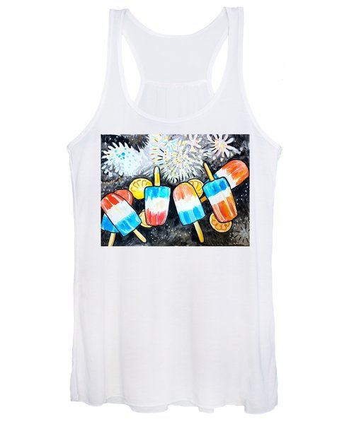 Popsicles And Fireworks Women's Tank Top