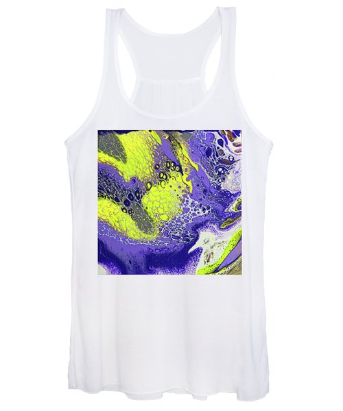 Purple And Yellow Women's Tank Top
