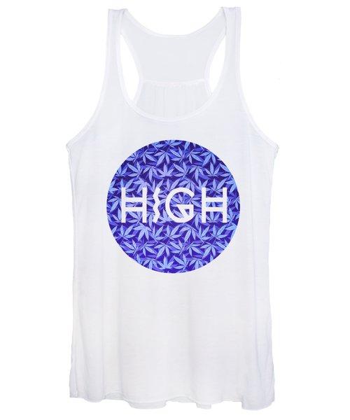 Purple Haze Cannabis Hemp 420 Marijuana  Pattern Women's Tank Top