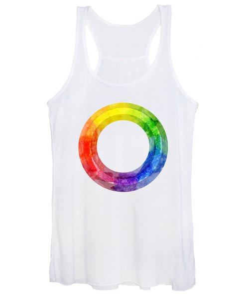 Rainbow Color Wheel Women's Tank Top