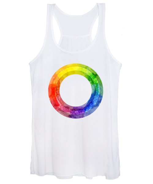 Rainbow Color Wheel Women's Tank Top