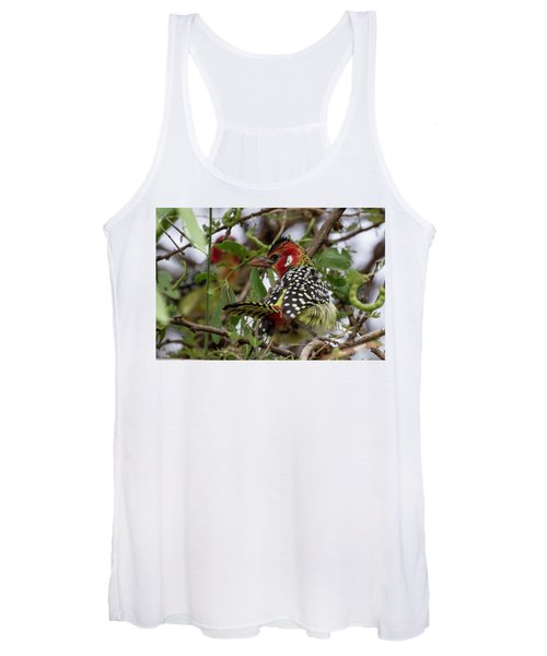 Red-and-yellow Barbet Women's Tank Top