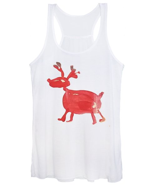 Red Reindeer Women's Tank Top