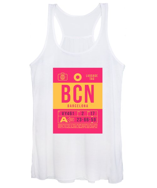 Retro Airline Luggage Tag 2.0 - Bcn Barcelona Spain Women's Tank Top