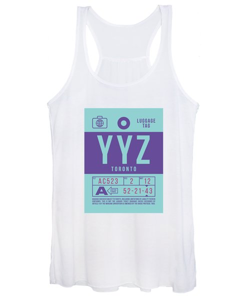 Retro Airline Luggage Tag 2.0 - Yyz Toronto International Airport Canada Women's Tank Top