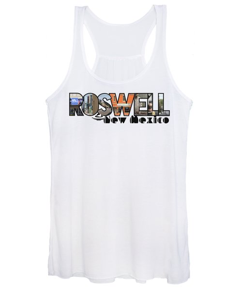 Roswell New Mexico Big Letter Travel Souvenir Women's Tank Top