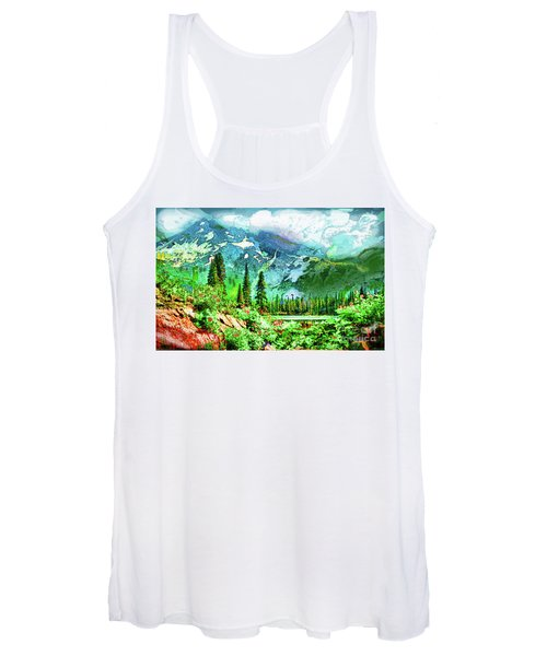 Scenic Mountain Lake Women's Tank Top