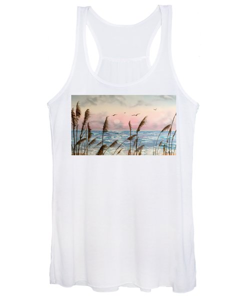 Sea Oats And Seagulls  Women's Tank Top