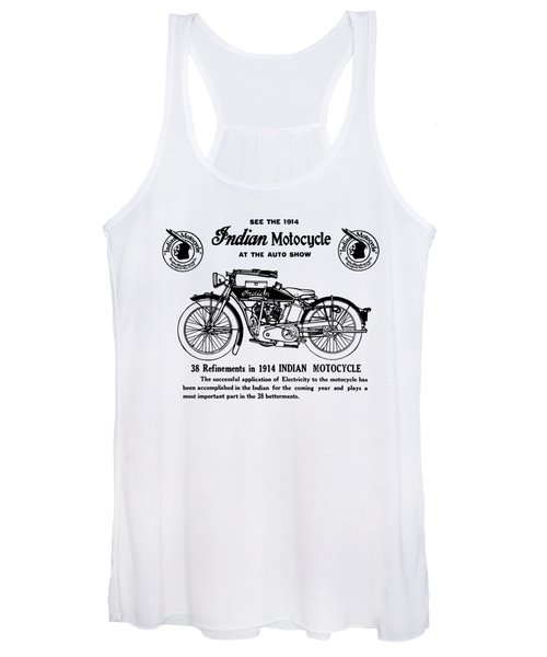 See 1914 Indian Motorcycle At Auto Show - T-shirt Women's Tank Top