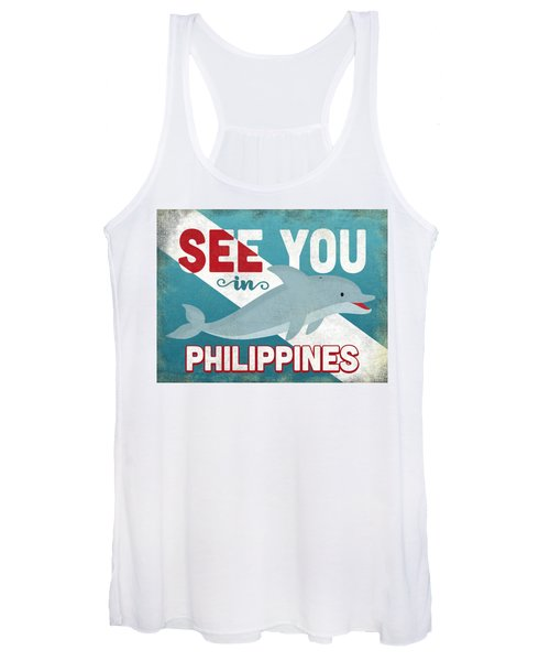 See You In Philippines Dolphin Women's Tank Top