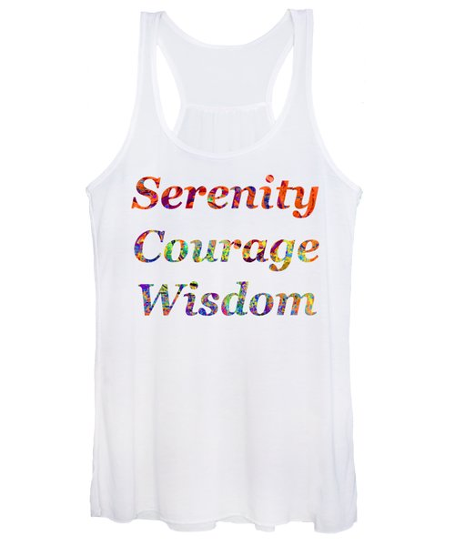 Women's Tank Top featuring the painting Serenity Courage Wisdom 1001 by Corinne Carroll