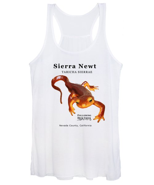 Sierra Newt - Black Text Women's Tank Top
