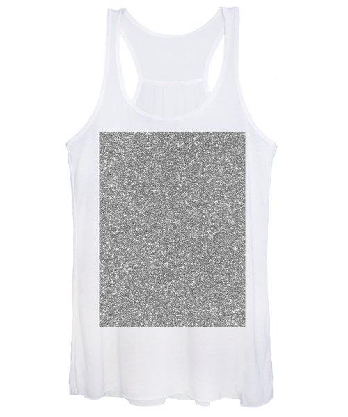 Silver Glitter  Women's Tank Top
