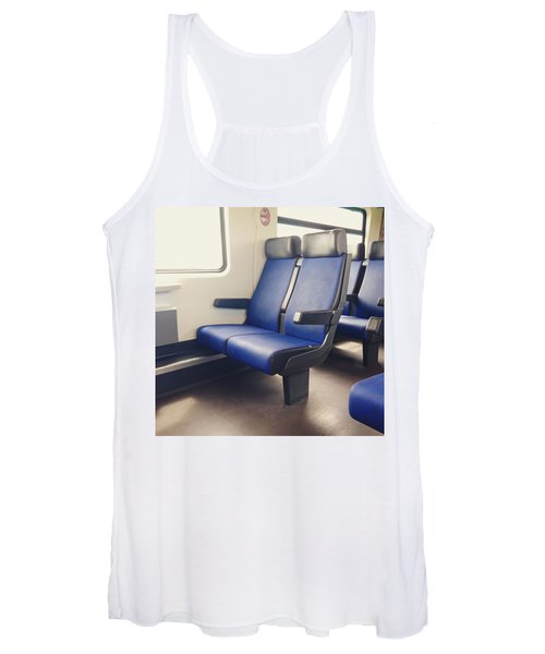 Sitting On Trains Women's Tank Top