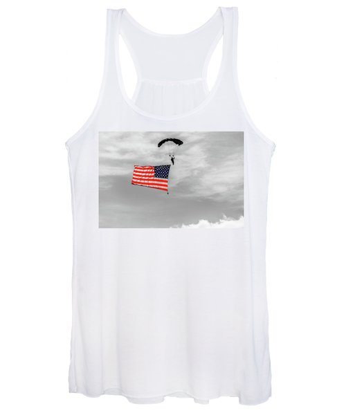 Socom Flag Jump In Selective Color Women's Tank Top