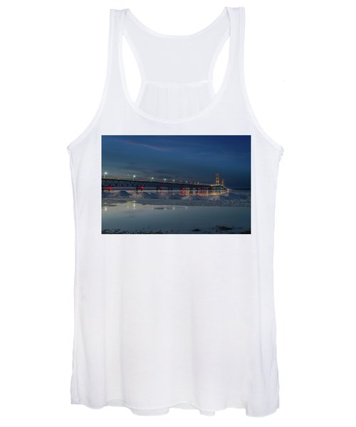 Spring Evening At The Mackinac Bridge Women's Tank Top