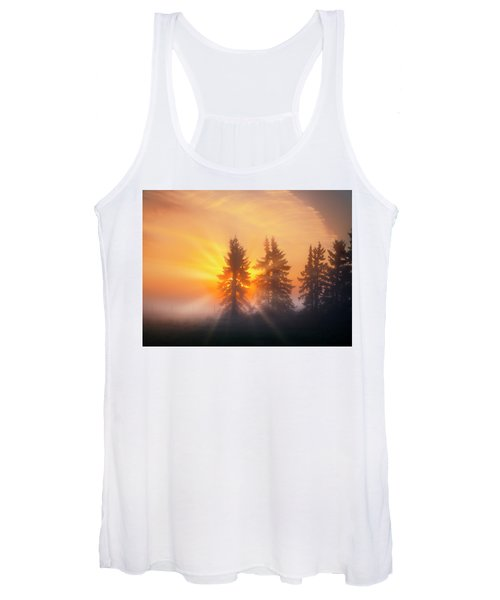 Spruce Trees In The Morning Women's Tank Top