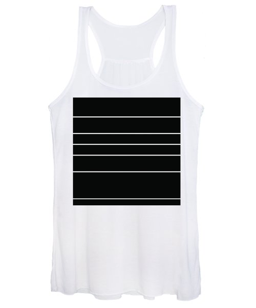 Stacked - Black And White Women's Tank Top