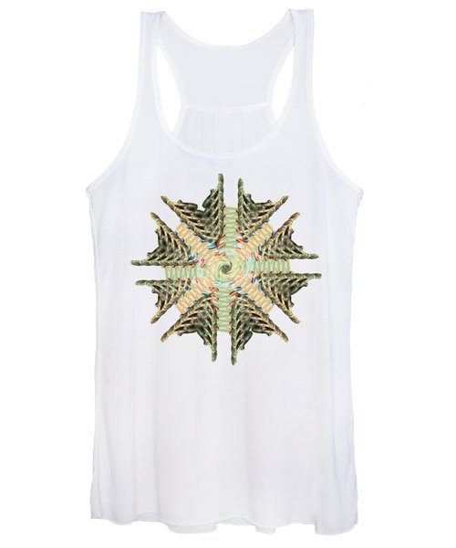 star shape lung Flower abstract art Women's Tank Top