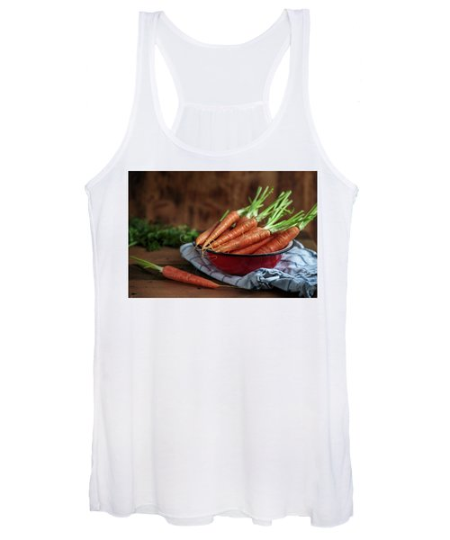 Still Life With Fresh Carrots Women's Tank Top