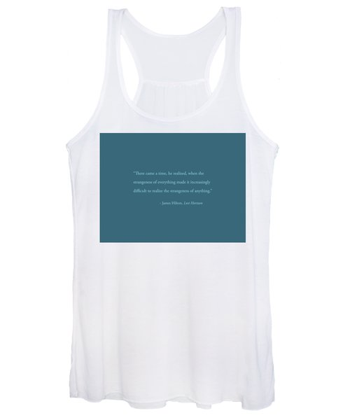 Strangeness Of Anything Women's Tank Top