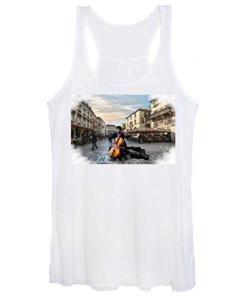 Street Music. Cello. Women's Tank Top
