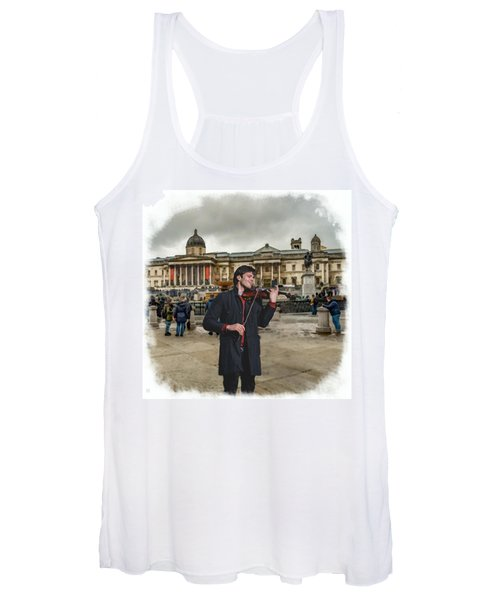 Street Music. Violin. Trafalgar Square. Women's Tank Top