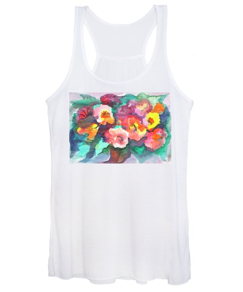 Women's Tank Top featuring the painting Summer Bouquet by Irina Dobrotsvet