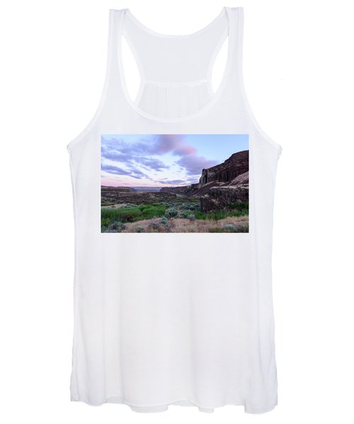 Sunrise In The Ancient Lakes Women's Tank Top