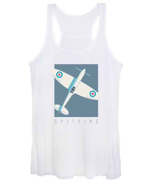 Supermarine Spitfire Wwii Fighter Aircraft - Slate Women's Tank Top