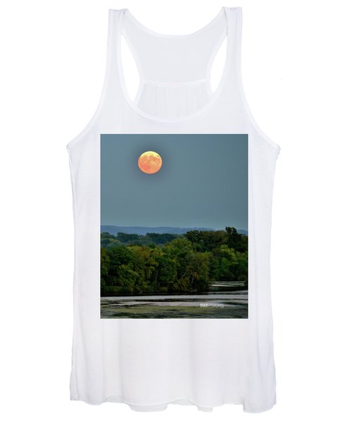 Supermoon On The Mississippi Women's Tank Top
