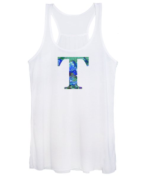 Women's Tank Top featuring the digital art T 2019 Collection by Corinne Carroll