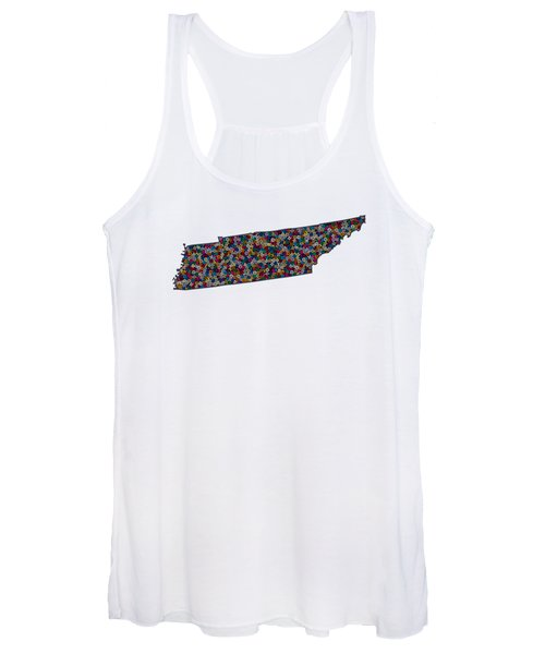 Tennessee Map - 1 Women's Tank Top
