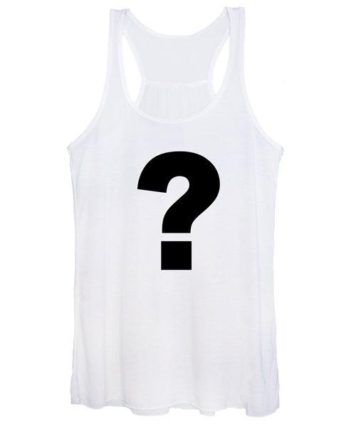 Text Question Mark ? In Black -  Dth301 Women's Tank Top