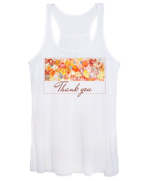 Thank You #3 Women's Tank Top