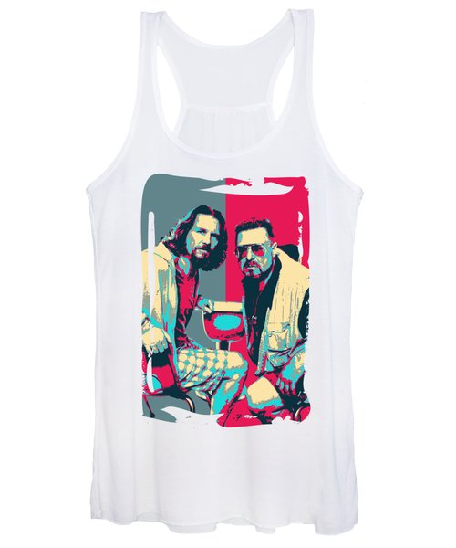The Big Lebowski Revisited - The Dude And Walter No.2 Women's Tank Top
