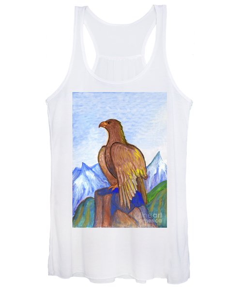 Women's Tank Top featuring the painting The Eagle by Irina Dobrotsvet