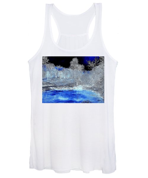The  Pond In  Winter  -  Edit20-contest Women's Tank Top