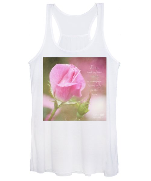 The Rose Speaks Of Love Photograph Women's Tank Top