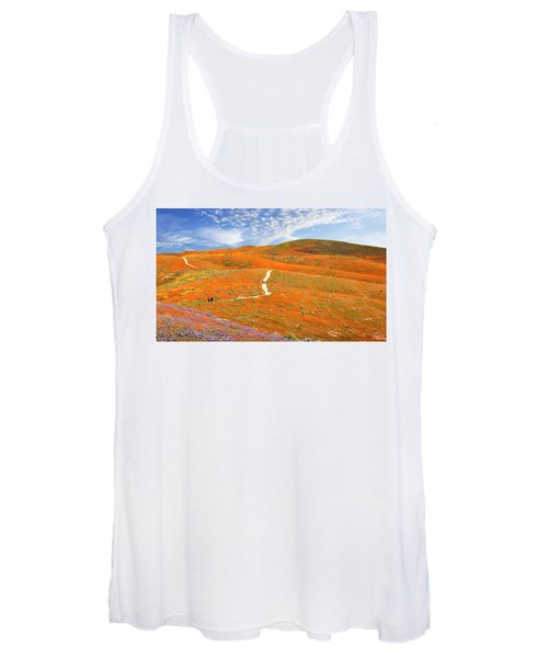 The Trail Through The Poppies Women's Tank Top