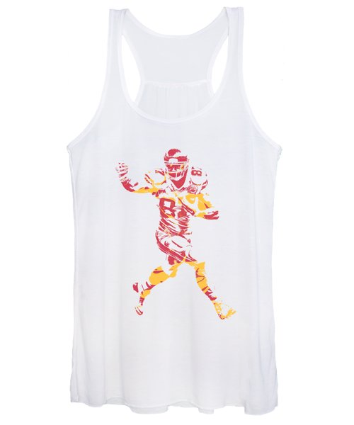 Travis Kelce Kansas City Chiefs Apparel T Shirt Pixel Art 1 Women's Tank Top