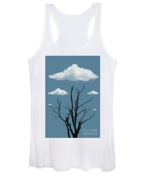 Tree In The Clouds Women's Tank Top