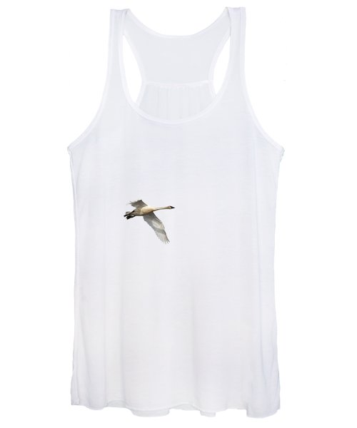 Trumpeter Swan Isolated 2018-1 Women's Tank Top