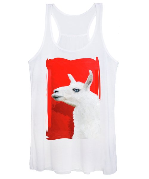 The Blue-eyed Llama  Women's Tank Top