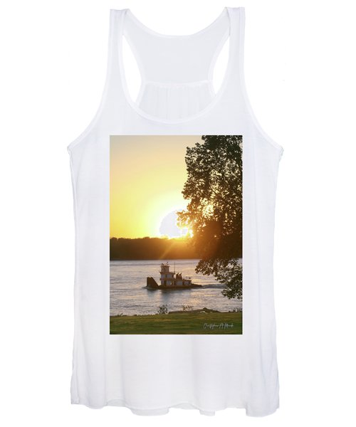 Tugboat On Mississippi River Women's Tank Top