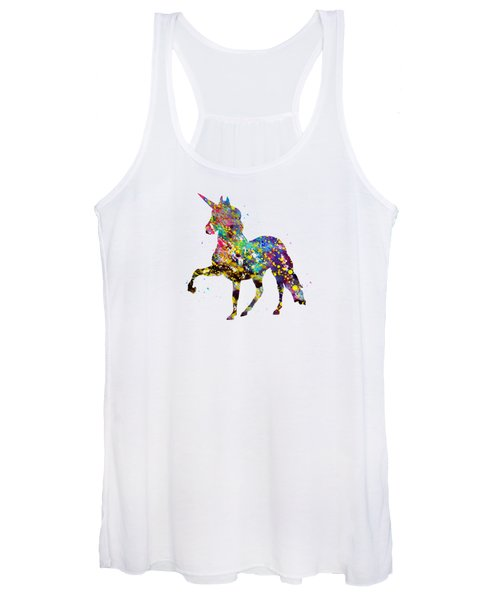 Unicorn-colorful Women's Tank Top