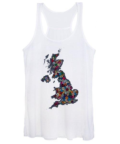 United Kingdom Map-1 Women's Tank Top