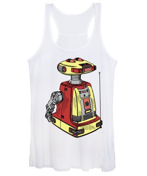 Vintage Toy Robot Tee Women's Tank Top